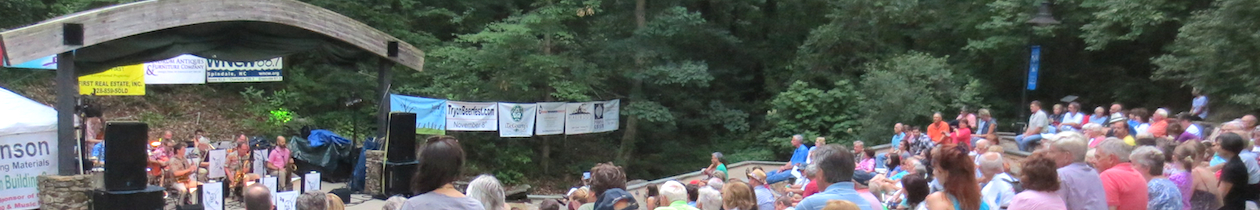 Summer Tracks concert series held at Rogers Park in Tryon, North Carolina